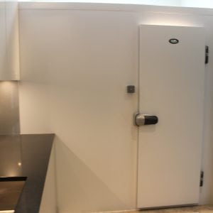 walk in white high gloss freezer