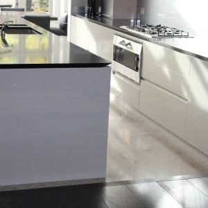 white high gloss shark kitchen