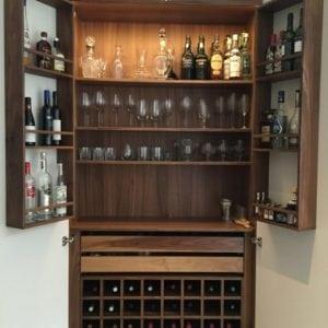 walnut drinks cabinet for kitchen