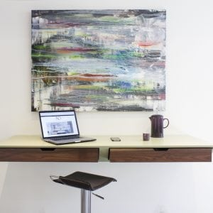 floating kitchen desk by neil norton design